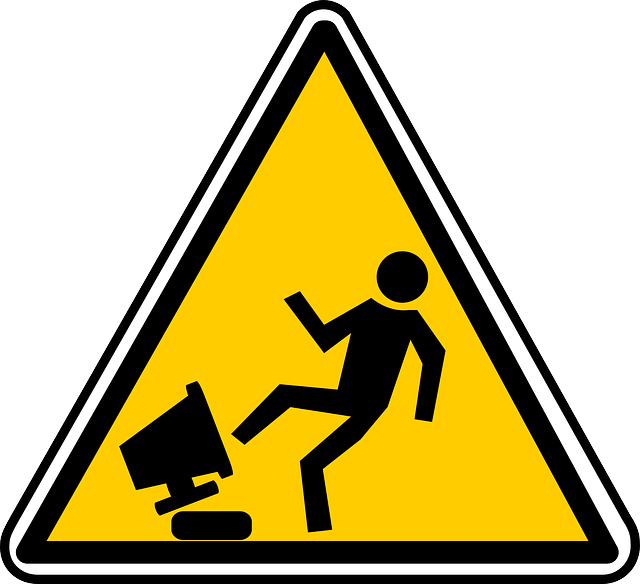 Computer Caution Sign