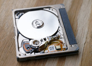 spinning hard drive